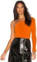 Motel Binx One Shoulder Bodysuit in Orange. - size L (also in M,S,XS)