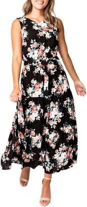 Gibson Floral Belted Maxi Dress