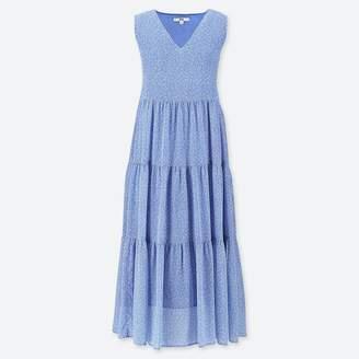 Uniqlo WOMEN Printed Tiered Sleeveless Long Dress