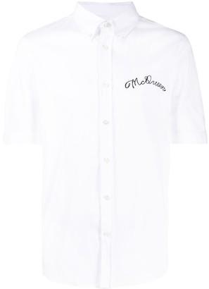 Alexander McQueen Embroidered Chest Logo Shirt