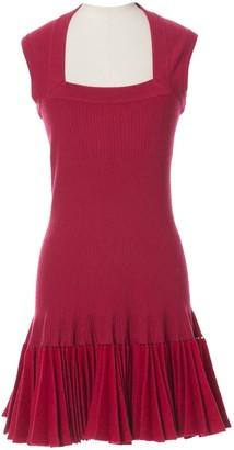 Alaia Pink Wool Dresses