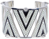 Givenchy Crystal Accented Chevron Cuff