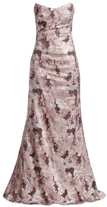 Rene Ruiz Collection Fil Coupe Strapless Mermaid Dress