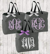 Etsy Monogrammed Tote Bags, Bridesmaid Totes, Personalized Sorority Gift, Big Little Sorority Tote Bag (B