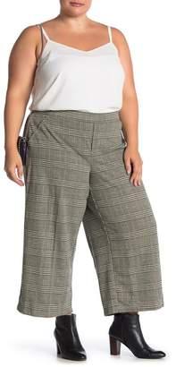 Democracy High Waist Printed Pants (Plus Size)