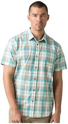Prana Benton Shirt (Azurite) Men's Short Sleeve Button Up