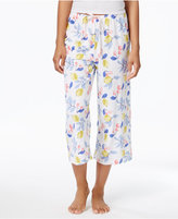 Hue Printed Cotton Knit Capri Pajama Pants