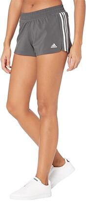 adidas Pacer 3-Stripes Woven Shorts (Black/White) Women's Shorts