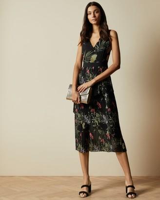 Ted Baker Highland Tiered Pleated Midi Dress
