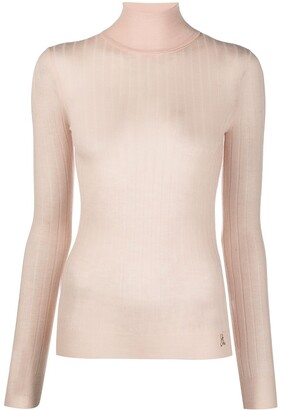 Patrizia Pepe Semi-Sheer Turtleneck Jumper