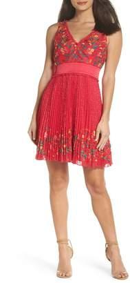 French Connection Amity Floral Lace Fit & Flare Dress