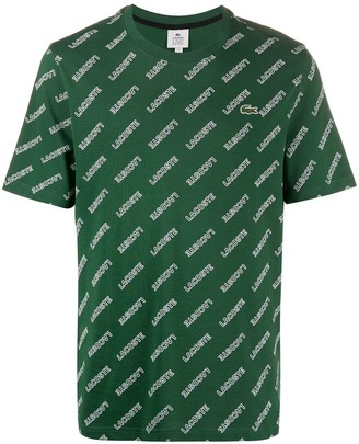 Lacoste Live logo print T-shirt