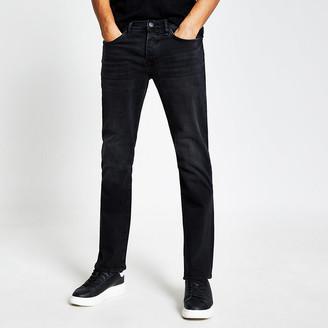 River Island Black Clint bootcut stretch jeans