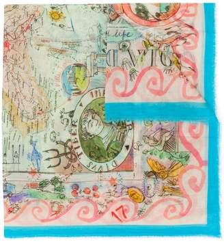 Faliero Sarti illustration print scarf