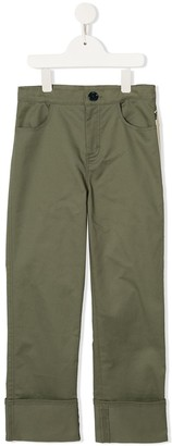 Oscar De La Renta Kids Applique Patch Trousers