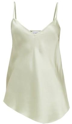Raey Dip-hem Silk-satin Cami Top - Womens - Light Green