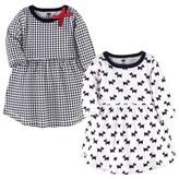 Hudson Baby Girl Long Sleeve Dress, 2-Pack