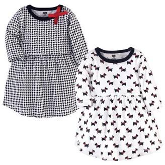 Hudson Baby Newborn Girl Long-Sleeve Dresses, 2-Pack