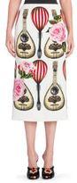 Dolce & Gabbana Mandolin Printed Skirt