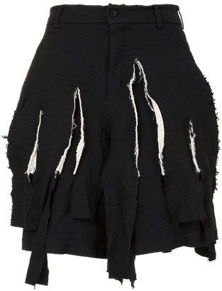 Comme des Garcons Distressed Tailored Shorts
