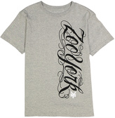 Zoo York Gray Heather Script Logo Tee - Boys
