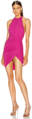 Alexandre Vauthier Ruched Halter Mini Dress in Fuchsia | FWRD