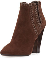 Michael Kors Channing Whipstitch Suede Bootie, Nutmeg