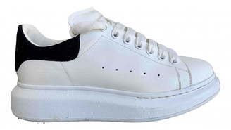 Alexander McQueen Oversize White Leather Trainers