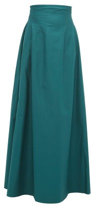 KHAITE Tabitha High-rise Cotton-twill Maxi Skirt - Womens - Green