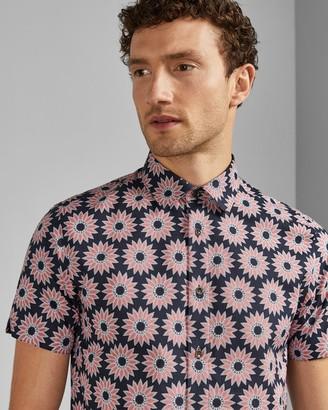 Ted Baker Floral Short Sleeved Cotton Shirt
