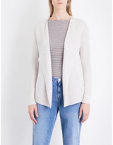 The White Company Waterfall-lapels knitted cardigan