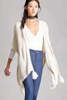 Forever 21 FOREVER 21+ Open-Front Shawl Cardigan