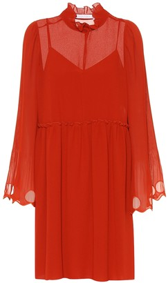 See by Chloe Ruffled georgette dress