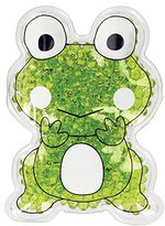 TheraPearl Children's Pals for Bee Stings, Children Injuries, Small Swelling, Pain Relief, and Puffy Eyes, Ribbit the Frog, Boo Boo Pack, Kids Cold Pack, Reusable Hot Cold Therapy Pack with Gel Beads
