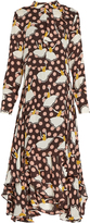 Marni Pirouette-print silk-georgette dress