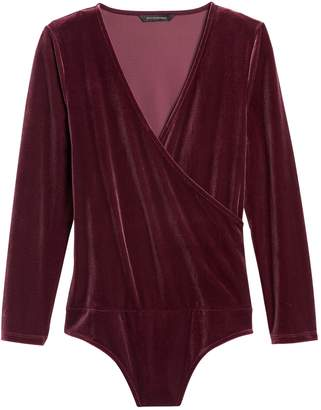Banana Republic Velvet Wrap Thong Bodysuit