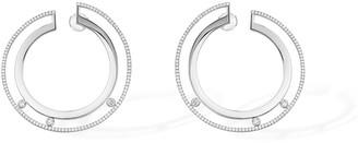 Messika Move Romane 18k White Gold Small Diamond Hoop Earrings
