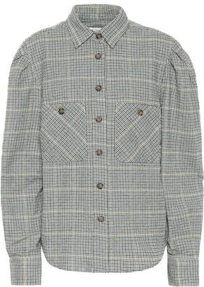 Etoile Isabel Marant Falco checked cotton-blend shirt