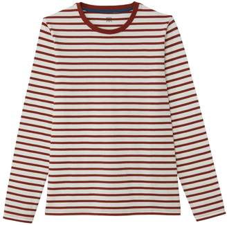 La Redoute Collections Breton Striped Long-Sleeved Cotton T-Shirt