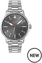 Hugo Boss Hugo Boss Orange Chicago Grey Dial Stainless Steel Bracelet Mens Watch