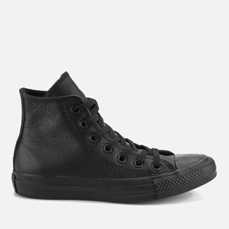 Converse Chuck Taylor All Star Leather Hi-Top Trainers - Black Mono