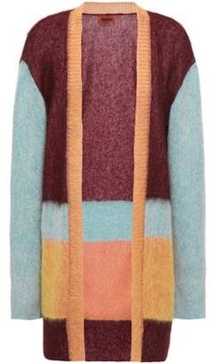 Missoni Brushed Color-block Intarsia-knit Cardigan