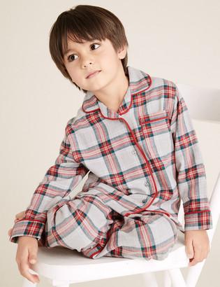 Marks and Spencer Kid's Family Checked Pyjama Set (1-16 Yrs)