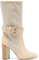 Malone Souliers X Roksanda Berenice Canvas Boots - Womens - Beige