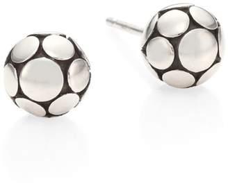 John Hardy Dot Small Silver Ball Stud Earrings