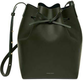 Mansur Gavriel Calf Bucket Bag - Moss