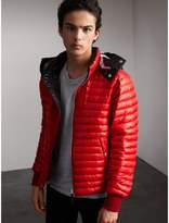 Burberry Packaway Hood Down-filled Puffer Jacket , Size: 52sf, Red