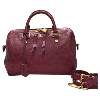 Louis Vuitton Speedy Bandouliere Burgundy Leather Handbags