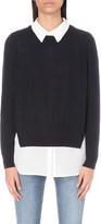 Claudie Pierlot Mat shirt-underlay wool jumper