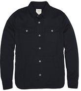 Original Penguin Textured Long Sleeve Shirt Jacket, Dark Sapphire